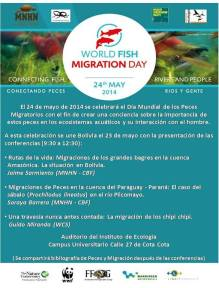 three lectures on migratory fishes will be presented