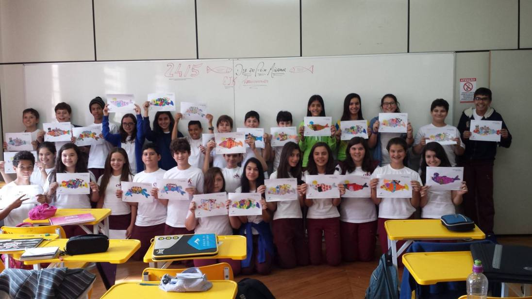 WFMD2014 travelling fish competition by Colégio John Kennedy / 7th grade - CEPTA/ICMBio/Brazil
