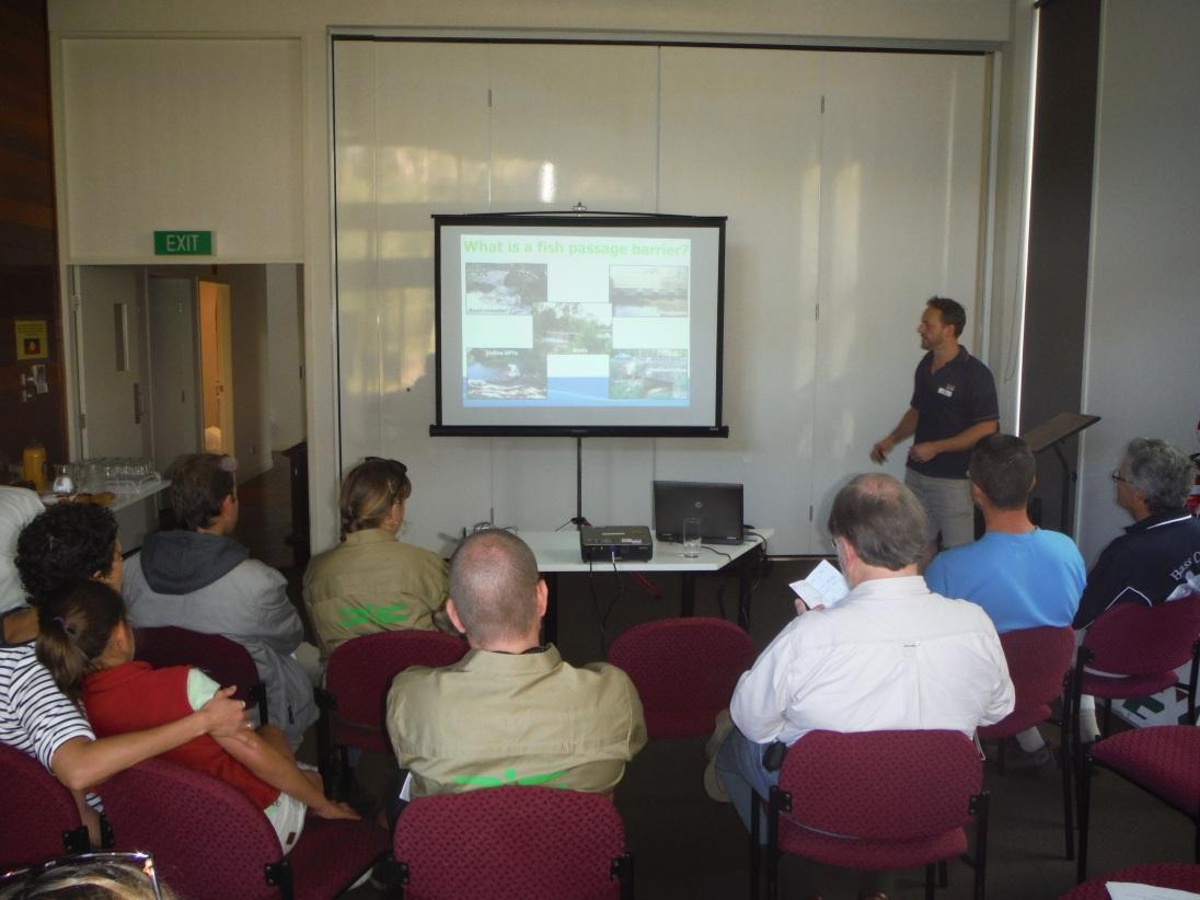 SN talking at World Fish Mgn Day 240514 (c) Simon Rowe