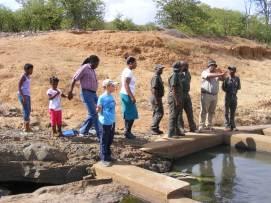 The new Engelhardt Dam Fishway demo in full swing!