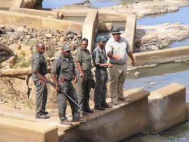 SANParks staff shows an interest in the fishway