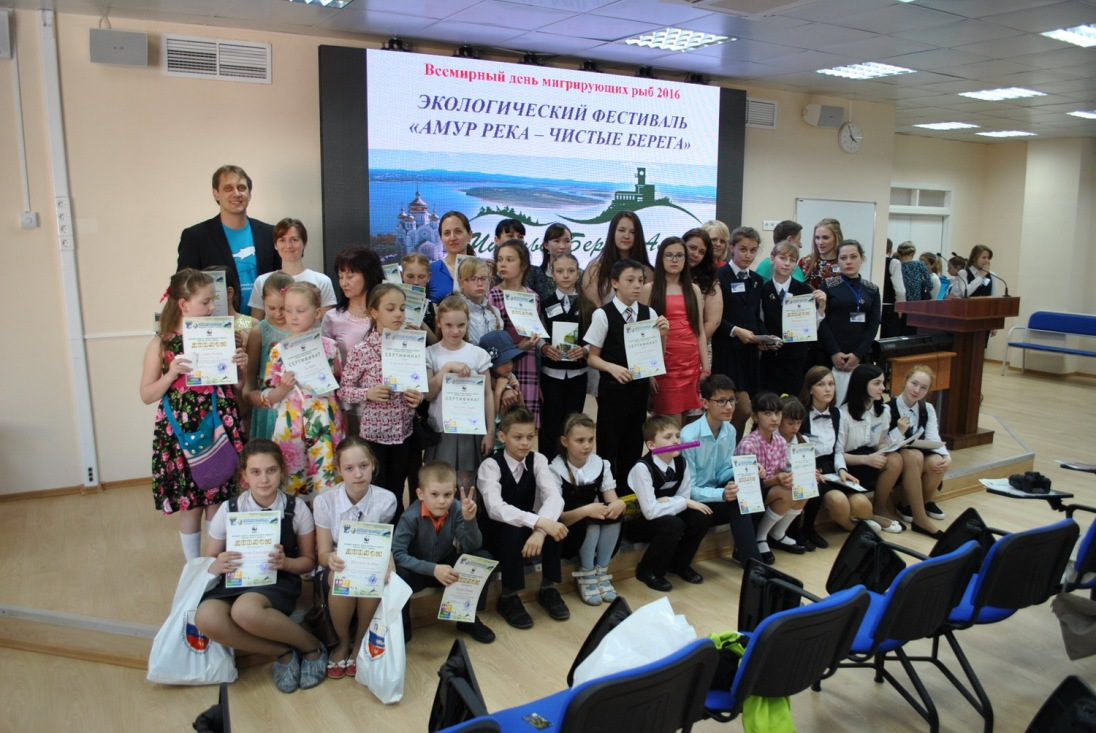 Winners of the poster contest For clean banks_Khabarovsky Province