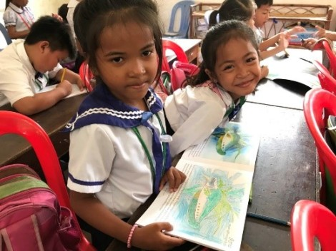 Coloring contest and story telling at Anuvath Primary School