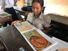Coloring contest and story telling at Krapeur Har Primary School